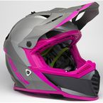 Youth Silver/Gray/Pink Gate Launch Helmet - 437G-4144