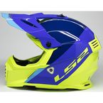 Youth Blue/Hi-Viz Gate Launch Helmet - 437G-4153