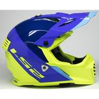 Blue/Hi-Viz Gate Launch Helmet - 437G-1154