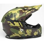 Youth Matte Green/Brown/Yellow Camo Gate Jarhead Helmet - 437G-4234