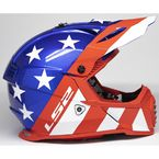 Red/White/Blue Gate Stripes Helmet - 437G-1254