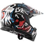 Youth Black/White/Red/Blue Gate Beast Helmet - 437G-4384