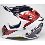 White/Red/Blue/Gray Subverter Ray Helmet - 470-1324