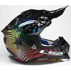 Holo Burst Red/Blue/Chrome Subverter Supercollider Helmet - 470-1394