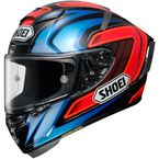 Red/Blue/Black/Silver X-Fourteen HS55 TC-1 Helmet - 0104-2501-05