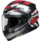 Matte Black/Red/White RF-1200 Variable TC-1 Helmet - 0109-4001-06