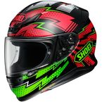Black/Red/Green RF-1200 Variable TC-4 Helmet - 0109-4004-06