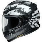 Matte Black/White RF-1200 Variable TC-5 Helmet - 0109-4005-06