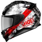 Matte Black/Red/White RF-1200 Brawn TC-1 Helmet - 0109-4301-06