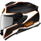Matte Black/White/Orange GT-Air II Bonafide TC-8 Helmet - 0119-1408-05