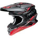 Gray/Red/Black VFX-EVO Allegiant TC-1 Helmet - 0146-1501-06