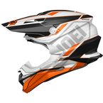 White/Orange/Black VFX-EVO Allegiant TC-8 Helmet - 0146-1508-06