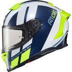 White/Blue EXO-R1 Air Corpus Helmet - R1-1015