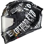 Black EXO-R1 Air Blackletter Helmet - R1-2015