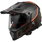 Gray/Orange Pioneer V2 Element Helmet w/Dual and Single Lens Shields - 436-9101