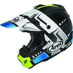 Black/White/Fluorescent Green/Blue VX-Pro 4 Combat Helmet - 886203