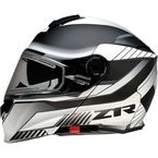 White/Black Solaris Scythe Electric Helmet - 0120-0664