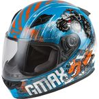 Youth Blue/Orange/Gray GM-49Y Beasts Helmet - 72-4994YS