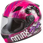 Youth Pink/Purple/Gray GM-49Y Beasts Helmet - 72-4996YM