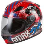 Youth Red/Blue/Gray GM-49Y Beasts Helmet - 72-4997YL