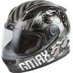 Youth Dark Silver/Black GM-49Y Beasts Helmet - 72-4998YL