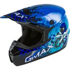 Youth Blue/Silver/Black MX-46Y Anim8 Helmet - 72-6636YL