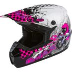 Youth White/Neon Pink/Purple MX-46Y Anim8 Helmet - 72-6637YM