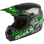 Youth Dark Silver/Green MX-46Y Anim8 Helmet - 72-6639YM
