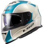 Metallic Khaki/Turquiose Assault Paragon Helmet - 800-1184