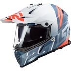 White/Blue/Red/Gray Blaze Sprint Adventure Helmet - 436B-1123