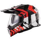 Red/Black/White Blaze Xtreme Adventure Helmet - 436B-1144