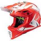 Youth Red/Black/White Gate Twoface Helmet - 437G-4194