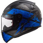 Matte Black/Blue Rapid Deadbolt Helmet - 353-1144