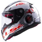 Youth White Rapid Mini Machine Helmet - 353-4204