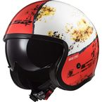 White/Red Spitfire Rust Helmet - 599-1154