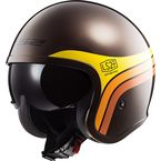 Rootbeer/Orange/Yellow Spitfire Sunrise Helmet - 599-1144