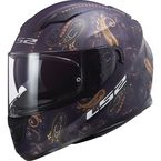 Matte Navy/Gold Multi-Colored Stream Paisley Helmet - 328-1514