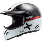 Carbon/White/Red Xtra Yard Helmet - 471-2124