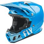 Youth Blue/Gray Formula CC Primary Helmet - 73-4303YL
