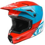 Youth Red/White/Blue Kinetic Straight Edge Helmet - 73-8632YL