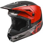 Youth Red/Black/Gray Kinetic Straight Edge Helmet - 73-8635YL