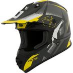 Matte Black/Yellow/Gray TX228 Landslide Helmet - 509805