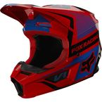 Youth Fluorescent Red V1 Oktiv Helmet - 25877-110-YL