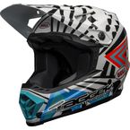 Youth White/Black/Orange Moto-9 Mips Tagger Designs Check Me Out Helmet - 7122582
