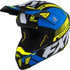 Blue/Hi-Vis Clutch Boost Helmet - 210619-4065-13