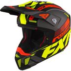 Hi-Vis/Nuke Red/Gray Clutch Boost Helmet - 210619-6523-13