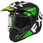 Lime Torque X EVO Helmet w/Electric Shield & Sun Shade - 210622-7000-07
