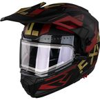 Charcoal/Gold/Rust Maverick X Modular Team Helmet w/Electric Shield - 210623-0862-13