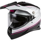 Black/White/Pink AT21 Adventure Raley Helmet - 72-4518L