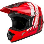 Red/Black/White MX46 Dominant Helmet - 72-6612M